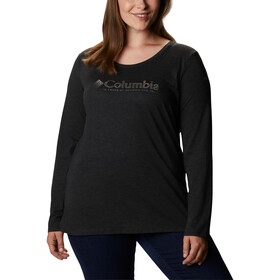 Columbia Blustery Peak LS Tee Women, black heather/hotter dots